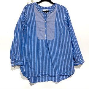 Old Navy blue tunic cotton oversized tunic stripes
